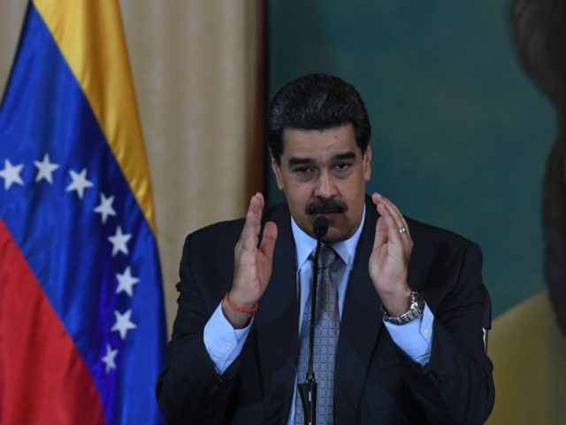 Venezuelan President Nicolas Maduro speaks during a press conference in Caracas on September 30, 2019. - Virtually all countries sent diplomats to the United Nations for the General Assembly last week, but Venezuela was a special case -- it had two delegations, each dueling for recognition. (Photo by YURI CORTEZ …
