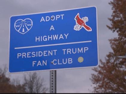 President Trump Fan Club sign