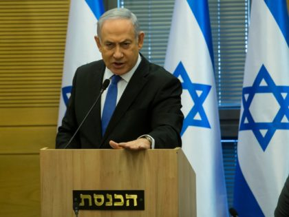 JERUSALEM, ISRAEL - NOVEMBER 20: Israeli Prime Minister Benjamin Netanyahu speaks before a right wing parties meeting on November 20, 2019 in Jerusalem, Israel. Israel may face third election after Benny Gantz and Benjamin Netanyahu struggle to form coalition. (Photo by Amir Levy/Getty Images)