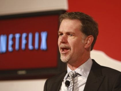 MEXICO CITY, MEXICO - SEPTEMBER 12: Reed Hastings, CEO of Netflix, attends a press conference to announce the Netflix service in Mexico at the St. Regis Hotel on September 12, 2011 in Mexico City, Mexico. (Photo by Hector Vivas/Latin Content/Getty Images)