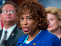 Rep. Brenda Lawrence, D-Michigan, speaks at a news conference in the Capitol to call for aid for the Flint water crisis be included in the government funding bill in September 2016. (Photo By Tom Williams/CQ Roll Call) (CQ Roll Call via AP Images)