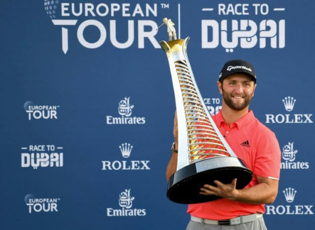 Jon Rahm holds off Tommy Fleetwood charge to triumph in Dubai