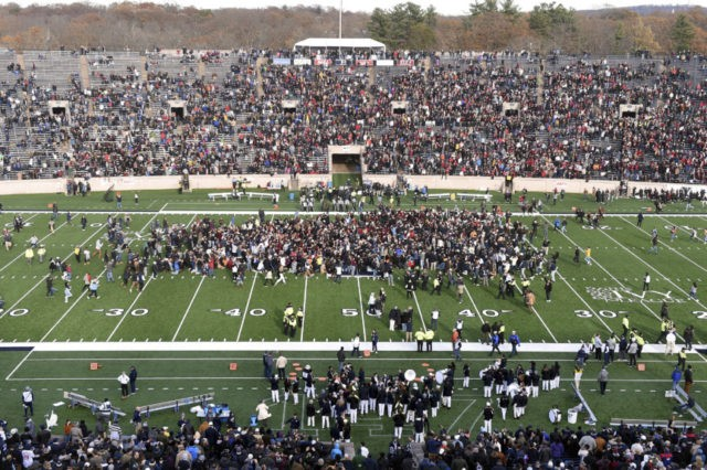 Harvard-Yale football game delayed at halftime by on-field student protest
