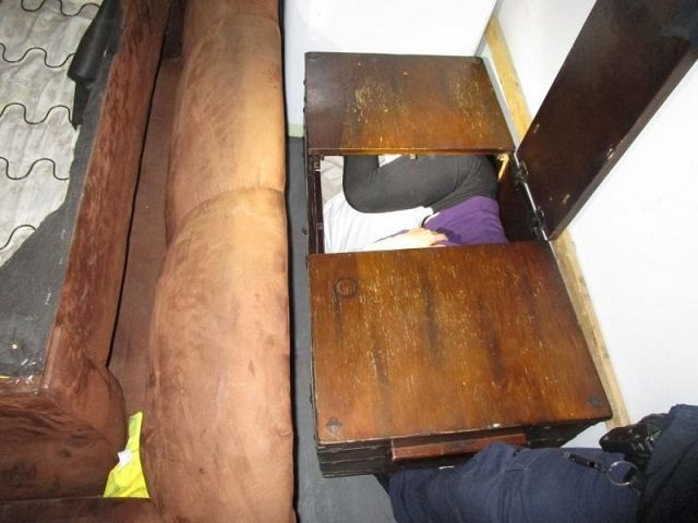 San Ysidro Port of Entry CBP officers find 11 Chinese migrants being smuggled in a furniture moving truck. (Photo: U.S. Customs and Border Protection/San Diego Sector)