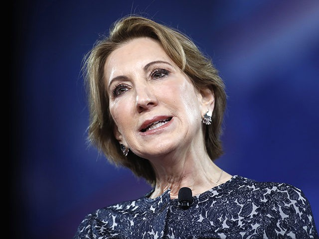 Carly Fiorina speaks at the Conservative Political Action Conference (CPAC), Friday, Feb. 24, 2017, in Oxon Hill, Md. (AP Photo/Alex Brandon)