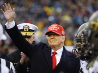 Donald Trump Flips Coin at Army vs. Navy Game