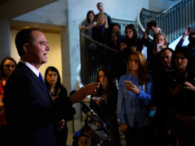 Adam Schiff press conference (Andrew Caballero-Reynolds / AFP / Getty)
