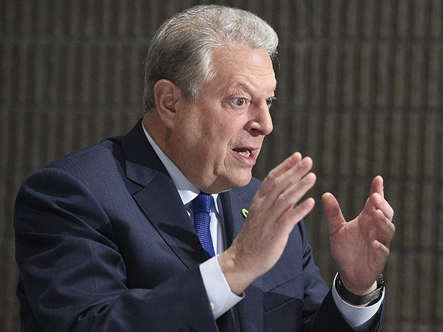 Former U.S. Vice President Al Gore, founder of the Climate Reality Project, speaks to the Associated Press in an interview, Friday, March 15, 2019, in Atlanta. Gore says the United States is nearing a political tipping point that will force elected officials to adopt more agressive policies to combat climate …