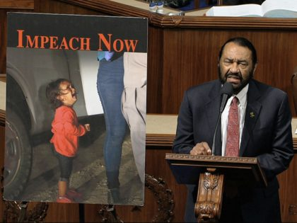 Al Green impeachment (House Television via Associated Press)