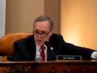 Rep. Andy Biggs (R-AZ) speaks at a public impeachment inquiry hearing with the House Judiciary Committee on Capitol Hill in Washington, DC on December 9, 2019 - The impeachment proceedings against President Donald Trump in a sharply divided US Congress enter a new phase Monday when the House Judiciary Committee …