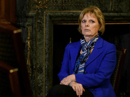 LONDON, ENGLAND - FEBRUARY 20: Former Conservative MP Anna Soubry is interviewed after a press conference regarding her resignation from the Conservative Party on February 20, 2019 in London, England. MPs Anna Soubry, Heidi Allen and Sarah Wollaston have resigned from The Conservative Party to join the eight Labour MPs …
