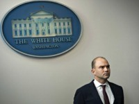 US Deputy National Security Advisor Ben Rhodes attends a briefing about US President Barack Obama's upcoming travel to Turkey, the Philippines and Malaysia, during the Daily Press Briefing at the White House in Washington, DC, November 12, 2015. AFP PHOTO / SAUL LOEB (Photo credit should read SAUL LOEB/AFP via …