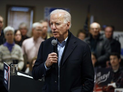 Democratic presidential candidate former Vice President Joe Biden speaks during a meeting with local residents, Sunday, Dec. 1, 2019, in Carroll, Iowa. (AP Photo/Charlie Neibergall)