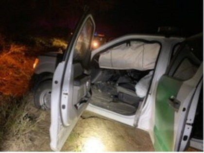 An alleged marijuana smuggler rammed a Border Patrol agent's vehicle as the smuggler attempted to flee. (Photo: U.S. Border Patrol/Rio Grande Valley Sector)