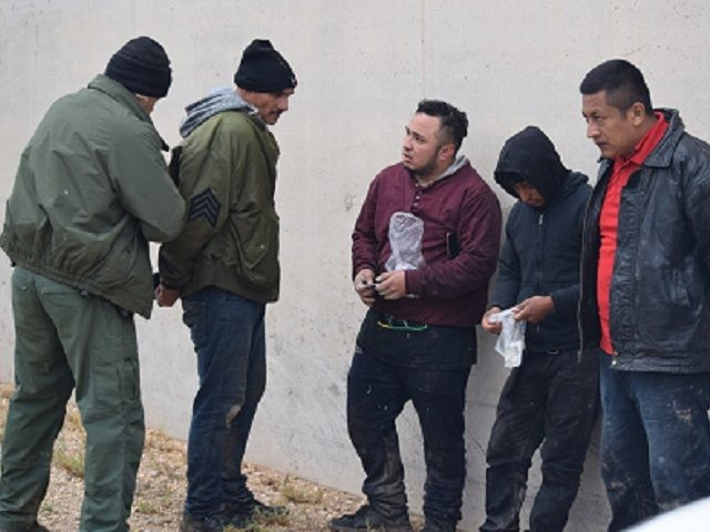 A Rio Grande Sector Border Patrol agent arrests a migrant following his fifth illegal entry into the U.S. (File Photo: Bob Price/Breitbart Texas)