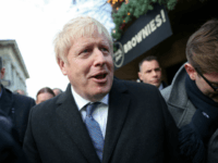 SALISBURY, UNITED KINGDOM - DECEMBER 3: Prime Minister Boris Johnson visits a Christmas market whilst campaigning on December 3, 2019 in Salisbury, England. UK voters are set to go to the polls on December 12 in the country's third general election in less than five years. (Photo by Hannah McKay …