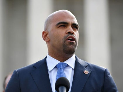 Representative Colin Allred, D-TX, speaks in front of the US Supreme Court during an event to call for the protection of affordable healthcare for those with preexisting conditions in Washington, DC on April 2, 2019. (Photo by MANDEL NGAN / AFP) (Photo credit should read MANDEL NGAN/AFP via Getty Images)