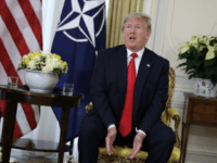 U.S. President Donald Trump speaks during his meeting with NATO Secretary General, Jens Stoltenberg at Winfield House in London, Tuesday, Dec. 3, 2019. US President Donald Trump will join other NATO heads of state at Buckingham Palace in London on Tuesday to mark the NATO Alliance's 70th birthday. (AP Photo/Evan …
