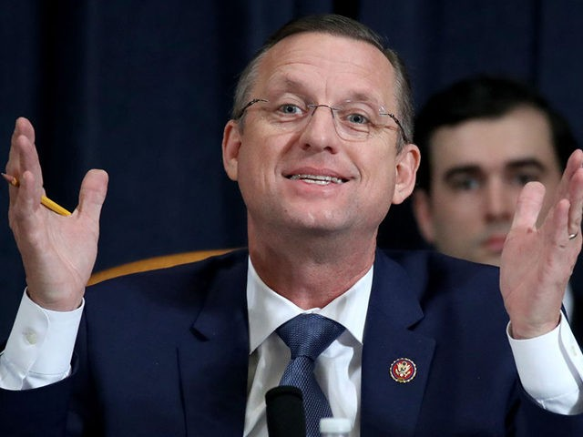 WASHINGTON, DC - DECEMBER 04: Committee ranking member Rep. Doug Collins (R-GA) questions constitutional scholars during testimony before the House Judiciary Committee in the Longworth House Office Building on Capitol Hill December 4, 2019 in Washington, DC. This is the first hearing held by the House Judiciary Committee in the …