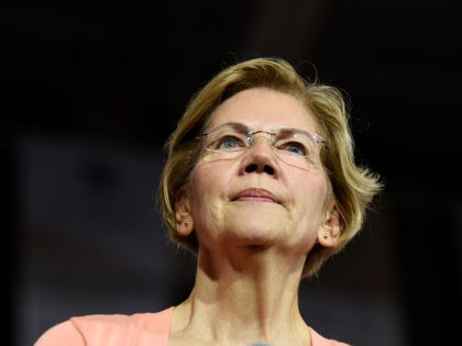 """RALEIGH, NC - NOVEMBER 07: Democratic presidential candidate, Sen. Elizabeth Warren (D-MA) speaks during a campaign stop at Broughton High School on November 7, 2019 in Raleigh, North Carolina. U.S. Rep. Ayanna Pressley (D-MA) broke with the group of four progressive first-term Democratic congresswomen dubbed """"the Squad"""" to endorse Warren. …"""