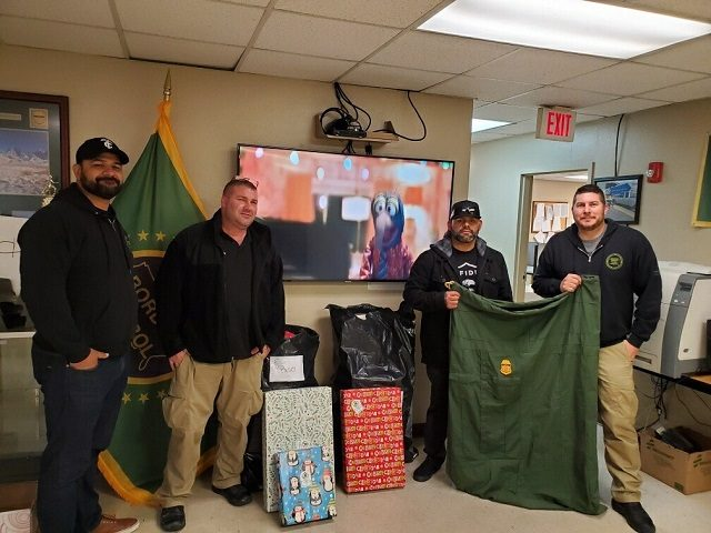 Border Patrol agents gather Christmas gifts for the children of fallen agents via the Fallen Agent Fund.