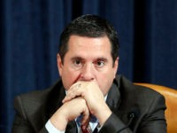 Ranking member of the House Permanent Select Committee on Intelligence Devin Nunes listens as Ambassador Kurt Volker, former special envoy to Ukraine, and Tim Morrison, a former official at the National Security Council, testify before the House Intelligence Committee on Capitol Hill in Washington, DC on November 19, 2019. (Photo …