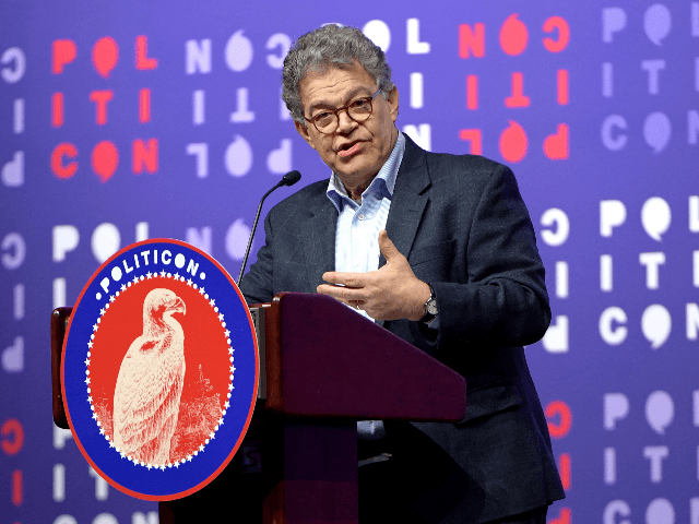 Al Franken speaks onstage during the 2019 Politicon at Music City Center on October 26, 2019 in Nashville, Tennessee. (Photo by Jason Kempin/Getty Images for Politicon )