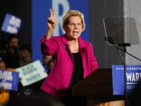 ATLANTA, GA - NOVEMBER 21: Democratic presidential candidate Sen. Elizabeth Warren (D-MA), holds up two fingers to represent her two-cent wealth tax while speaking at a campaign event at Clark Atlanta University on November 21, 2019 in Atlanta, Georgia. Warren, introduced by U.S. Rep. Ayanna Pressley (D-MA), spoke about workers' …
