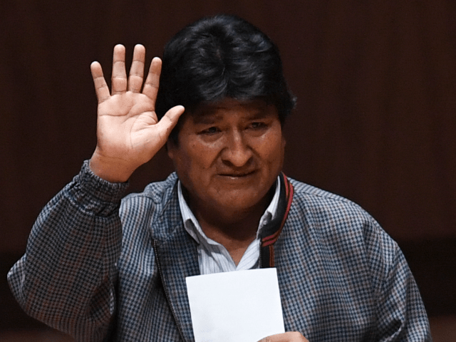 Bolivia's ex-President Evo Morales waves upon his arrival at the Ollin Yoliztli cultural center, in Mexico City, on November 26, 2019. (Photo by PEDRO PARDO / AFP) (Photo by PEDRO PARDO/AFP via Getty Images)