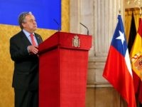 United Nations Secretary-General Antonio Guterres delivers a speech during a reception by the royal family for delegates attending the UN Climate Change Conference COP25 at the Royal Palace in Madrid, on December 2, 2019. - Spain's Socialist government offered to host this year's UN climate conference, known as COP25, from …