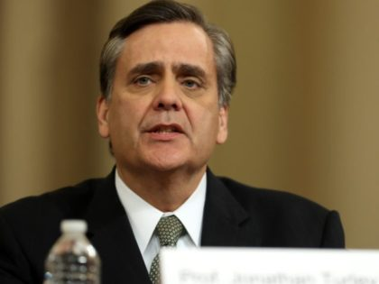 WASHINGTON, DC – DECEMBER 4: Constitutional scholar Jonathan Turley of George Washington University testifies before the House Judiciary Committee in the Longworth House Office Building on Capitol Hill December 4, 2019 in Washington, DC. This is the first hearing held by the Judiciary Committee in the impeachment inquiry against U.S. …