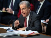 Justice Department Inspector General Michael Horowitz testifies about the Inspector General's report on alleged abuses of the Foreign Intelligence Surveillance Act (FISA) during a Senate Judiciary Committee hearing on Capitol Hill in Washington, DC, December 11, 2019. (Photo by SAUL LOEB / AFP) (Photo by SAUL LOEB/AFP via Getty Images)