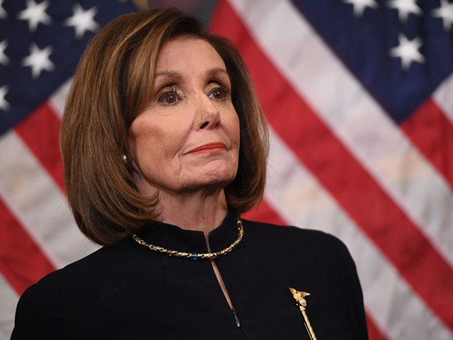 US Speaker of the House Nancy Pelosi holds a press conference after the House passed Resolution 755, Articles of Impeachment Against President Donald J. Trump, at the US Capitol in Washington, DC, on December 18, 2019. - The US House of Representatives voted 229-198 on Wednesday to impeach President Donald …