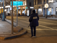 Russian Federal Security Service officer patrols a street next to the FSB security service's office in Moscow on December 19, 2019. - A member of the Russian FSB security service was killed on December 19, in a shootout with a gunman in central Moscow, state media said, quoting the FSB. …