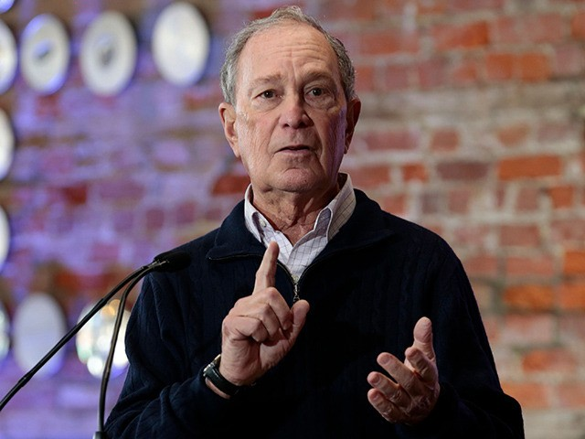 2020 Democratic presidential hopeful and former New York Mayor Michael Bloomberg speaks during an event to open a campaign office at Eastern Market in Detroit, Michigan, on December 21, 2019. (Photo by JEFF KOWALSKY / AFP) (Photo by JEFF KOWALSKY/AFP via Getty Images)
