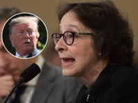 (INSET: President Donald Trump) WASHINGTON, DC - DECEMBER 04: Constitutional scholars Pamela Karlan (R) of Stanford University and Noah Feldman (L) of Harvard University testify before the House Judiciary Committee in the Longworth House Office Building on Capitol Hill December 4, 2019 in Washington, DC. This is the first hearing …