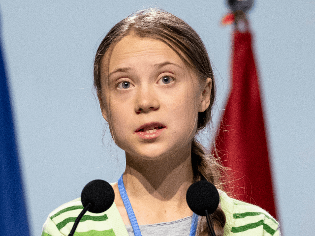 Swedish environment activist Greta Thunberg gives a speech at the plenary session during the COP25 Climate Conference on December 11, 2019 in Madrid, Spain. The COP25 conference brings together world leaders, climate activists, NGOs, indigenous people and others for two weeks in an effort to focus global policy makers on …