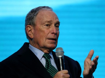 SAN FRANCISCO, CALIFORNIA - DECEMBER 11: Democratic presidential candidate former New York City mayor Michael Bloomberg speaks during a discussion about climate change with former California Gov. Jerry Brown during the American Geophysical Union Conference on December 11, 2019 in San Francisco, California. Democratic presidential candidate Michael Bloomberg is campaigning …
