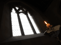 IMBER, ENGLAND - DECEMBER 31: Candles are lit ahead of the 10th New Year's Eve peace vigil being held inside the 700-year-old St Giles church in the village of Imber on December 31, 2011 on Salisbury Plain, England. The church along with the rest of the village was evacuated in …