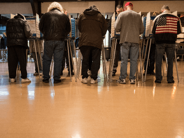 People vote at the United Auto Workers Local 1250 Hall during election day November 6, 2012 in Cleveland, Ohio. Citizens around the United States head to the polls to vote on the country's next president including in Ohio, a state with 18 electoral votes, were the race between US President …