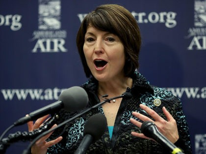WASHINGTON, DC - APRIL 12: Rep. Cathy McMorris Rodgers, (R-WA), chairwoman of the House Republican Conference, speaks about President Trump's new tax reform plan during a news conference hosted by the Americans for Tax Reform Group, on Capitol Hill April 12, 2018 in Washington, DC. (Photo by Mark Wilson/Getty Images)