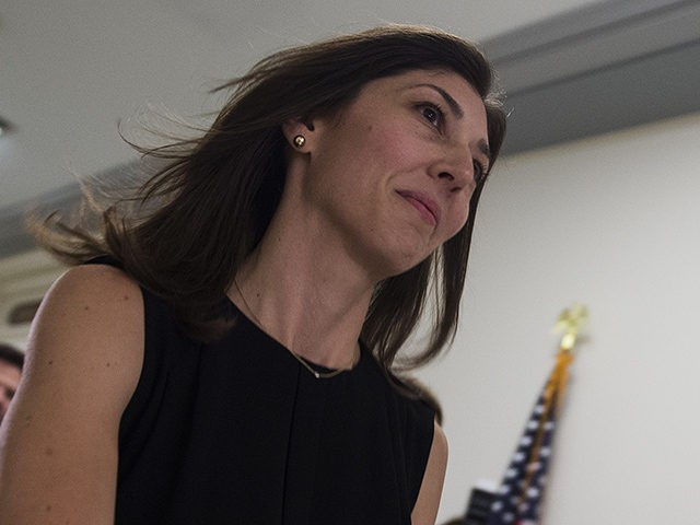 Lisa Page, former legal counsel to former FBI Director Andrew Mc Cabe, arrives on Capitol Hill July 13, 2018 to provide closed-door testimony about the texts critical of Donald Trump that she exchanged with her FBI agent lover during the 2016 presidential campaign. - Republicans accuse the pair, Lisa Page …