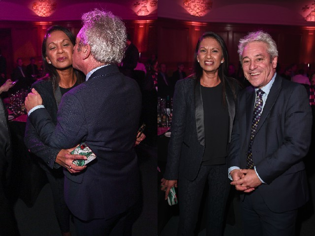 LONDON, ENGLAND - OCTOBER 16: Gina Miller and John Bercow attend the PinkNews Awards 2019 at The Church House on October 16, 2019 in London, England. (Photo by Eamonn M. McCormack/Getty Images)