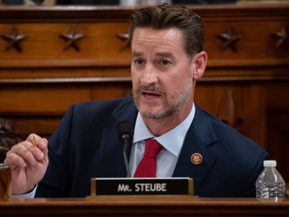 Representative Greg Steube, Republican of Florida, questions witnesses during a House Judiciary Committee hearing on the impeachment of US President Donald Trump on Capitol Hill in Washington, DC, December 4, 2019. - The next phase of impeachment begun December 4 in the US Congress, as lawmakers weigh charges against Donald …
