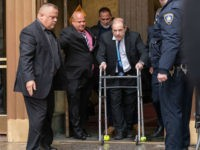 NEW YORK, NY - DECEMBER 11: Movie producer Harvey Weinstein arrives at criminal court on December 11, 2019 in New York City. Weinstein returned to court for a ruling on whether he will remain free on bail or if his bail will be raised to $5 million before his trial …