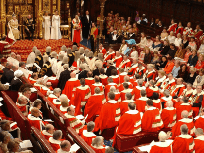 LONDON, UNITED KINGDOM: General view in the Chamber of The House of Lords with British Queen Elizabeth II and Prince Philip at background 23 November 2004, in London. The British government announced Tuesday a range of new measures to fight global terrorism and organised crime, as Queen Elizabeth II set …