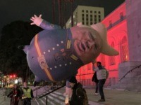 Komrade Trumpov impeachment rally balloon (Joel Pollak / Breitbart News