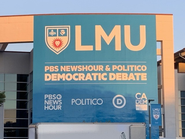 Democrat debate at LMU (Joel Pollak / Breitbart News)
