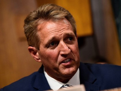 Senate Judiciary Committee member Jeff Flake (R-AZ) speaks during a hearing on Capitol Hill in Washington, DC on September 28, 2018, on the nomination of Brett M. Kavanaugh to be an associate justice of the Supreme Court of the United States. - Kavanaugh's contentious Supreme Court nomination will be put …