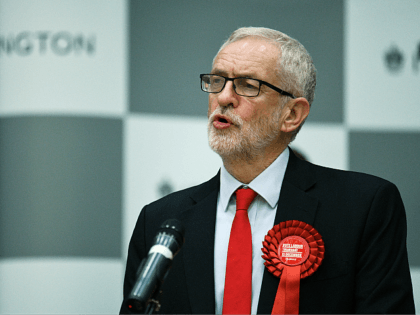 LONDON, ENGLAND - DECEMBER 12: Jeremy Corbyn, leader of the Labour Party, speaks at the vote count in his Islington North constituency on December 12, 2019 in London, England. Corbyn, who has held the Islington North seat since 1983, retained his seat but is expected to step down as leader …